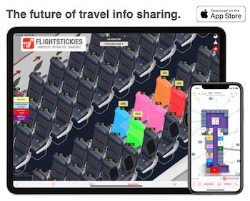 Track arriving or departing flights, get flight maps, 3D seat maps on